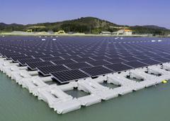 Hyogo Prefecture western Japan. Floating Solar Power
