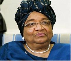 Liberia. President Ellen Johnson Sirleaf