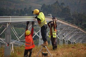 Solar power construction. Rwanda. Scatec Solar. Pic credits APO