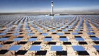Baseload solar power. CSP Crescent Dune in Nevada. Pic credit SolarReserve