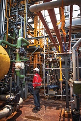 KivuWatt methane plant. Inspection. Pic Credit Technology Review