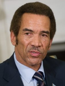 Botswana's President Ian Khama speaks during meetings with US President Barack Obama in the Oval Office at the White House in Washington, DC, November 5, 2009. AFP PHOTO / Saul LOEB