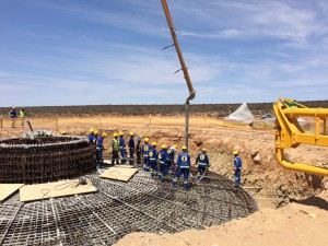The Loeriesfontein Wind Farm foundations have been designed utilising an 89% replacement of cement. Pic credit: archiexpo.com