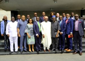 Members of the Lagos State advisory committee on power supply with governor of Lagos State, Akinwunmi Ambode. [picture credit: http://akinwunmiambode.com]