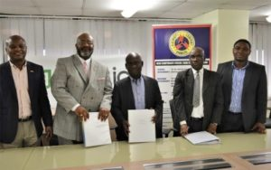Contract signing ceremony at ECG headquarters. Pic credit: Zoetic