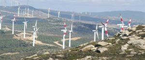 Large-scale wind energy farm