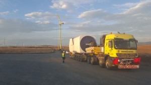 Vanguard GTK Crane on site at Nojoli Wind farm