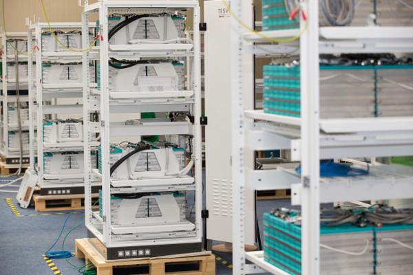 Producing storage systems for Rwanda. Image credit: Tesvolt