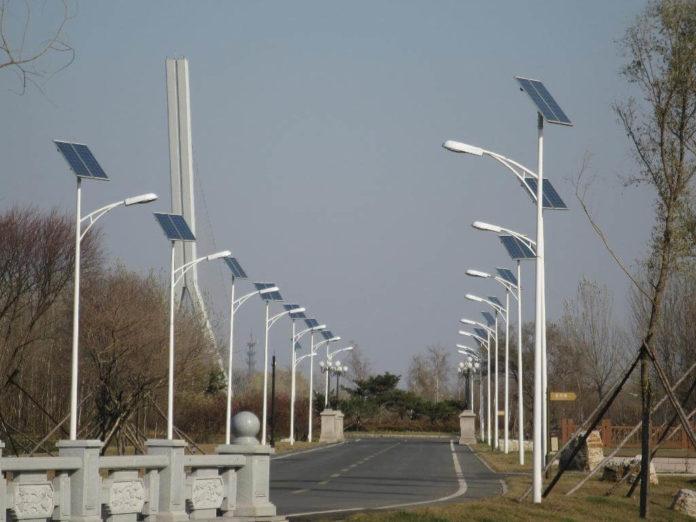 Cross River solar street lights