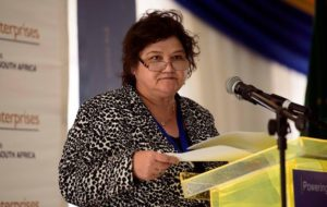 Minister of Public Enterprises Lynne Brown. Photo: Beeld / Lisa Hnatowicz / Gallo Images