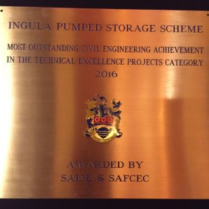 Technical Excellence Achievement Award. Pic credit: Eskom