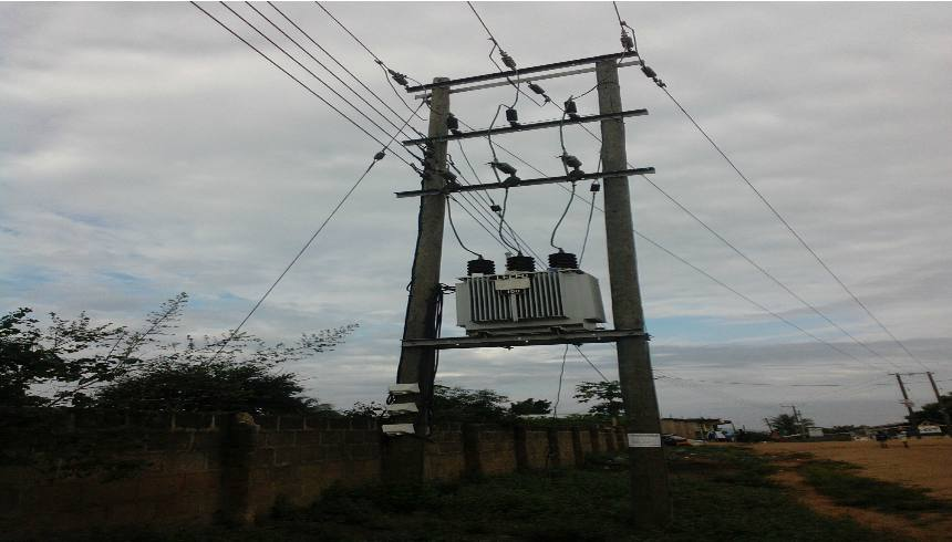 Lightning strikes on pole mounted transformers causes power