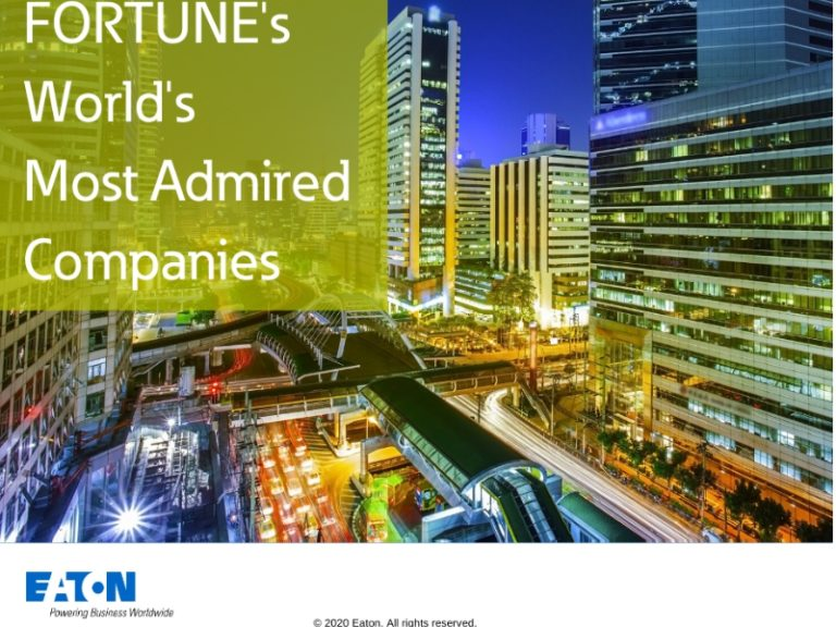 Eaton among Fortune Magazine's 2020 world's most admired companies