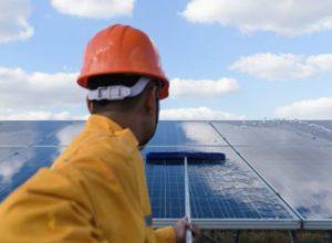 clean PV solar panels