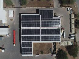 solar panels at Montego Pet Nutrition Factory in Graaff-Reinet