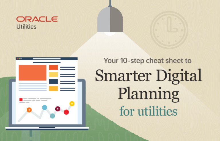 10 steps to smarter digital planning for utilities, infographic