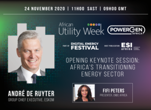 Eskom CEO answers tough questions on first day of Digital African Utility Week on 24 November