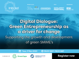 GreenCape will host a digital dialogue that will unpack green entrepreneurship in South Africa.