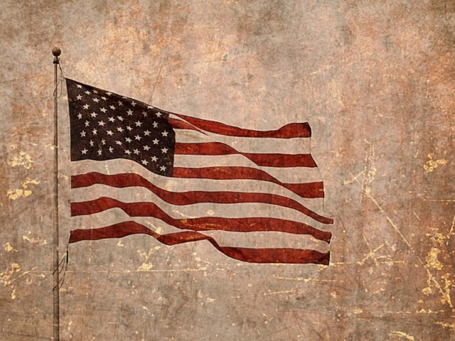 US elections american flag