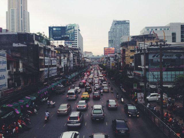 India transport traffic jam