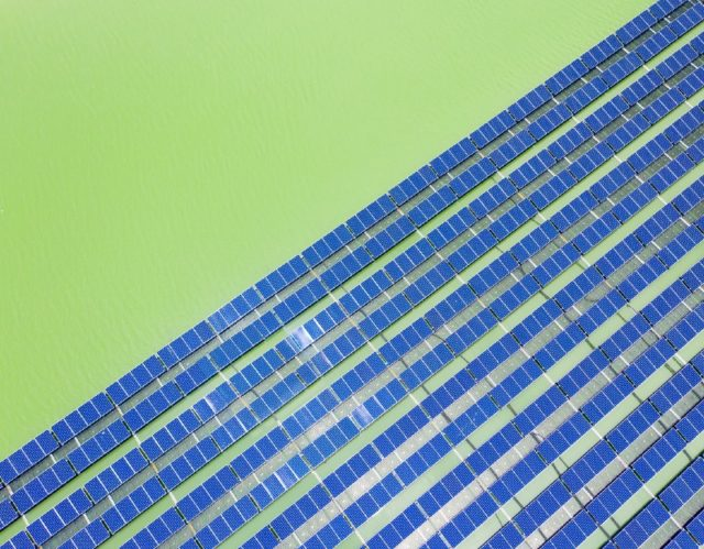 floating solar voltaic panels