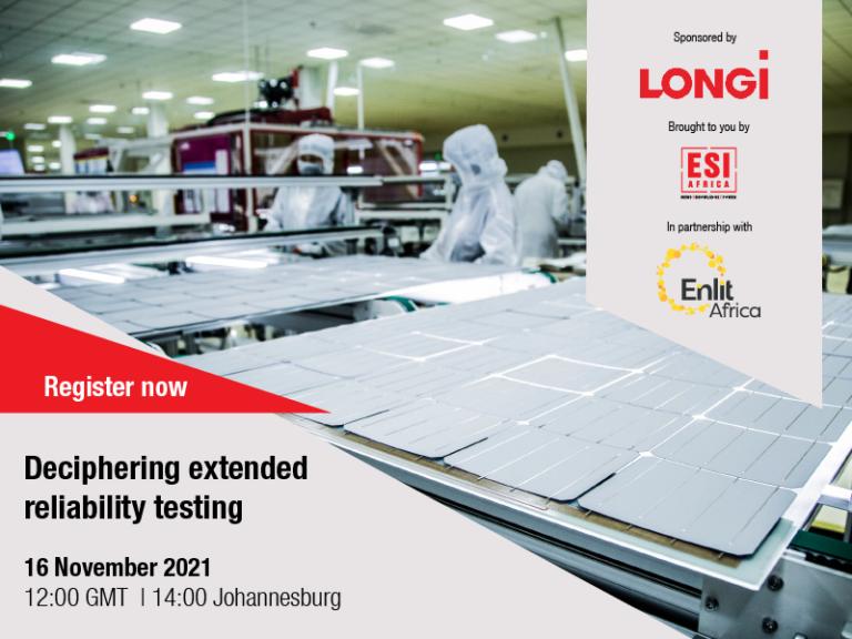 Webinar 16 November: Deciphering extended reliability testing for solar PV systems