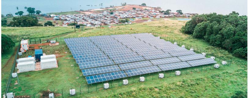 Absolute Energy's solar PV minigrid on Kitoba Island, Uganda. Credit: Miguel Oliveira, EEP Africa