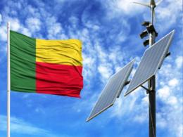 Benin streetlight flag