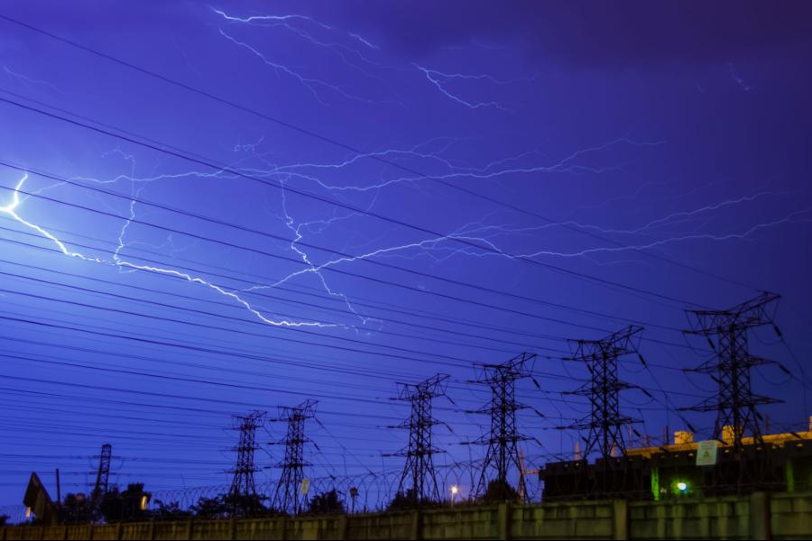 Johannesburg power lines