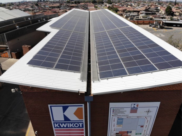 Solar energy at Kwikot plant